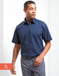 Men`s Poplin Short Sleeve Shirt